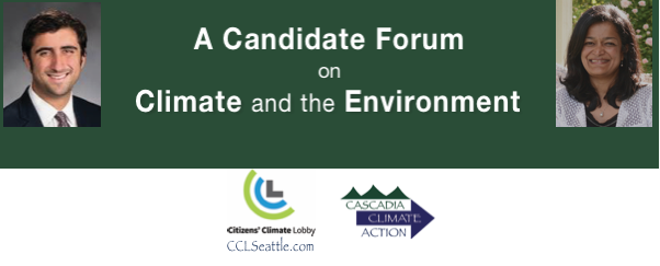 Candidate Forum on Climate and the Environment – US Congress, District 7 @ Peddler Brewing Company | Seattle | Washington | United States