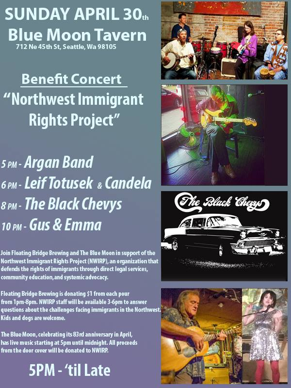 NW Immigrant Rights Project Benefit Show at Blue Moon Tavern @ Blue Moon Tavern | Seattle | Washington | United States