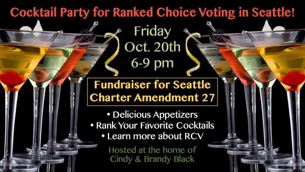 Fundraiser Cocktail Party for Seattle Charter Amendment 27! @ Seattle | Washington | United States