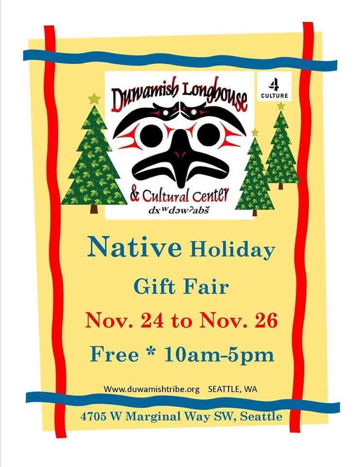 Duwamish Native Holiday Gift Fair @ Duwamish Longhouse | Seattle | Washington | United States